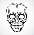 Skull Face Tattoo Design vector image