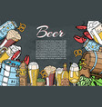 sorts beer and ale poster design concept vector image