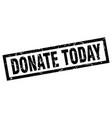 Square grunge black donate today stamp
