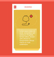 stethoscope mobile vertical banner design design vector image vector image