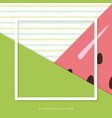 summer abstract watermelon background vector image