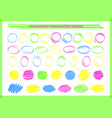 transparent highlight pen circle frame set vector image