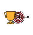 trophy and target arrow strategy vector image
