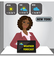 tv weather reporter at work vector image vector image