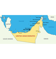 United Arab Emirates - map vector image vector image