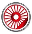 wheel steam locomotive vector image