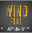 winded stylized font vector image