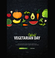 world vegetarian day hand-draw doodle background vector image