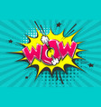 wow boom bang comic text speech bubble vector image vector image