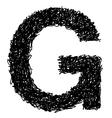 alphabet G vector image