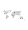 People man woman element on world map network vector image