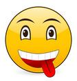 smile emoticon vector image