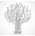 ccircuit board shaped tree vector image