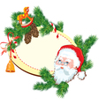 Christmas and New Year background - Santa Claus vector image
