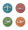 Airplanes flat icons vector image