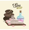 spa beauty and health hot stone compress lotion vector image