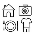 4 basic human needs outline icon vector image vector image