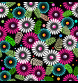 abstract wildflowers seamless pattern vector image