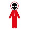 Alien Skafandr Flat Icon vector image