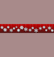banner large paper christmas hanging snowflakes vector image