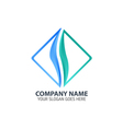 Blue Flame Abstract Logo Icon Template vector image