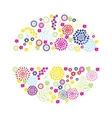 Bright flowers round frame vector image vector image