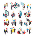 business coaching isometric icons vector image vector image