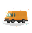 cartoon delivery van vector image vector image