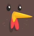 cartoon hen isolated vector image