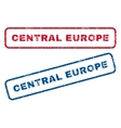 Central Europe Rubber Stamps vector image vector image