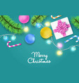 colorful christmas and new year background vector image vector image