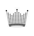 crown black dot symbol logo vector image vector image