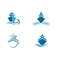 cruise ship symbol vector image