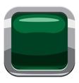 Dark green square button icon cartoon style vector image vector image