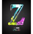 Design Light Effect Alphabet Letter Z vector image