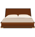 Double bed vector image vector image