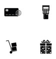 e-shopping icon set vector image vector image