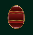 easter egg stylized gold and red stoneisolated vector image