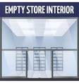 Empty store interior vector image vector image
