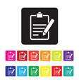 feedback report icon set vector image