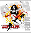 finishing runner character design with other vector image vector image
