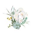 floral bouquet design element exotic vector image vector image