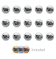 Folder Icons 2 MetalRound Series vector image vector image