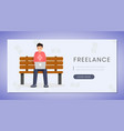 freelance job landing page template remote vector image vector image