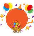 giraffes party celebration concept vector image
