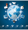 Global Communication And Connection Infographic vector image vector image