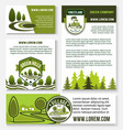 green company and eco business banner template set vector image vector image