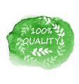 green organic quality label vector image