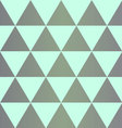 Grey dingy triangles with on mint background vector image