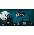 Halloween design background element haunted vector image